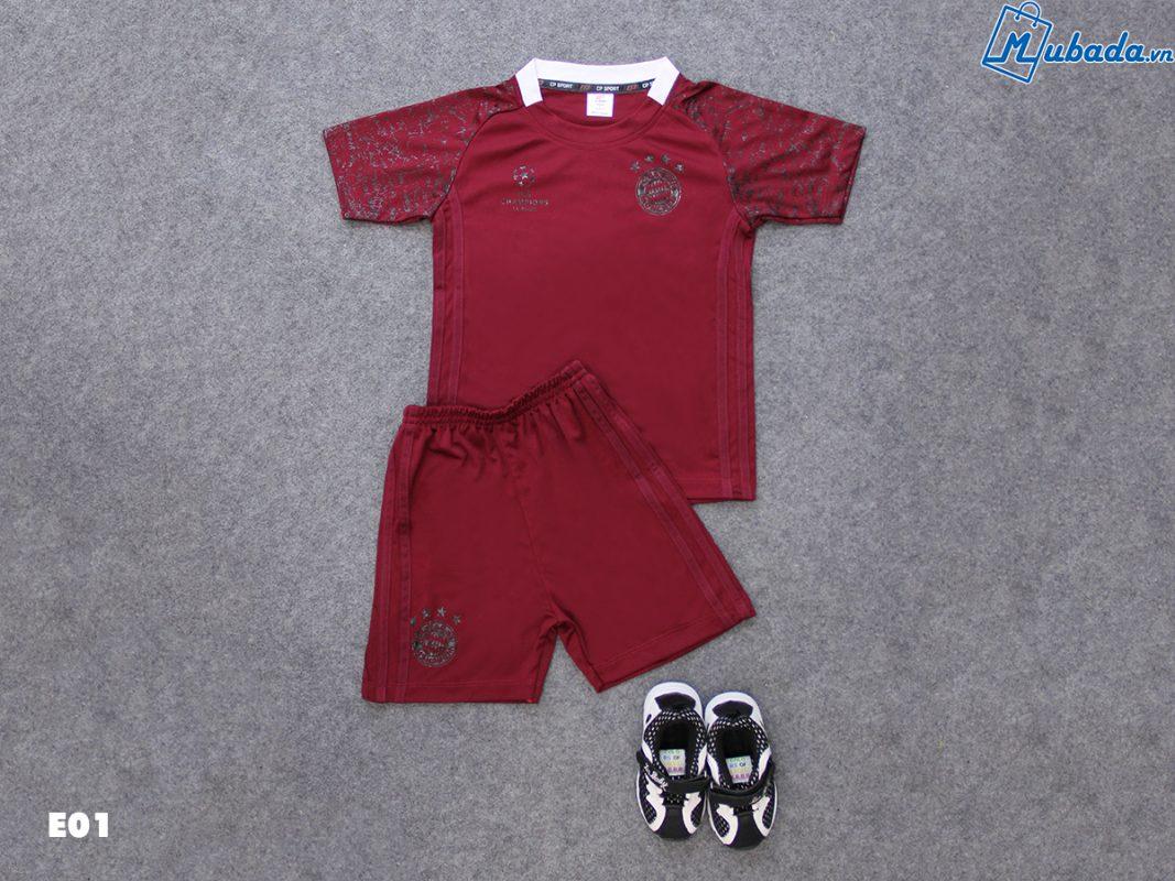 Quần áo trẻ em thể thao bayern đô C1