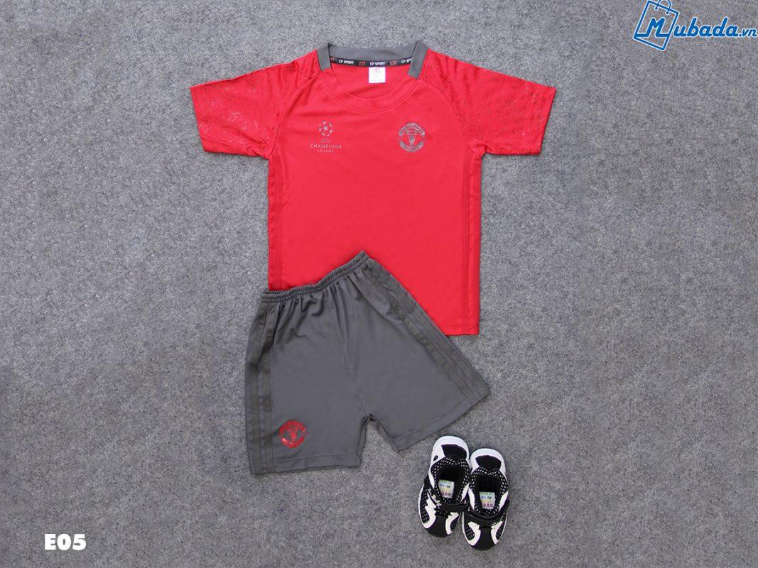 Quần áo trẻ em thể thao MU đỏ C1
