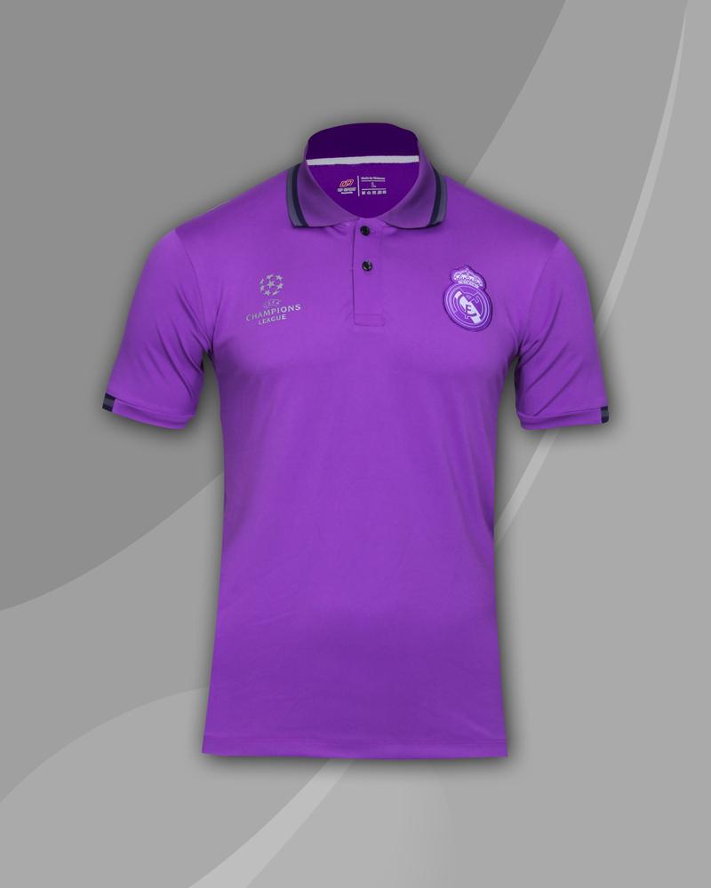 áo thun polo cao cấp real tím