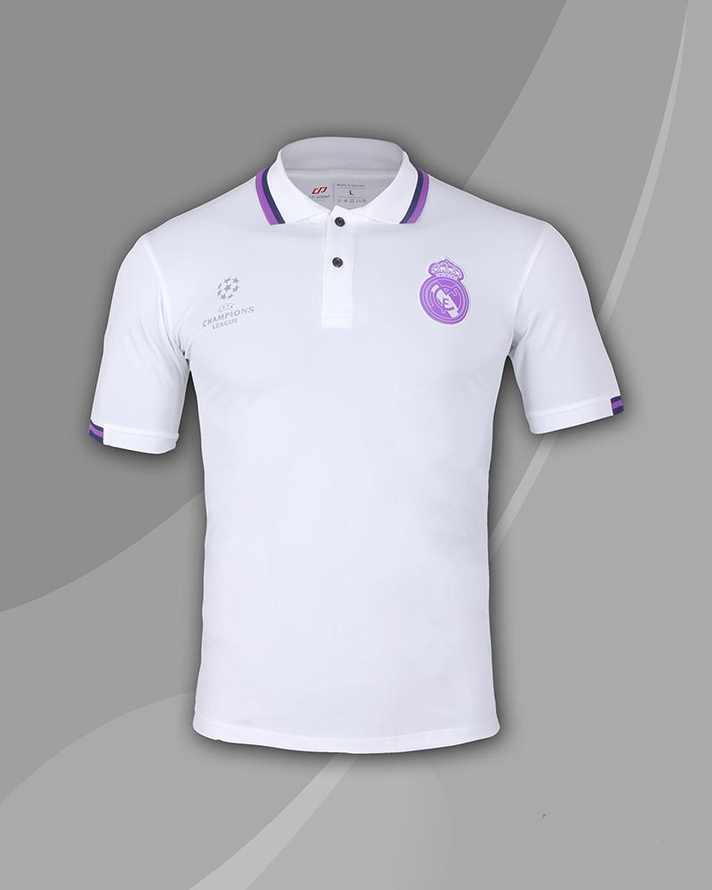áo thun polo cao cấp real trắng