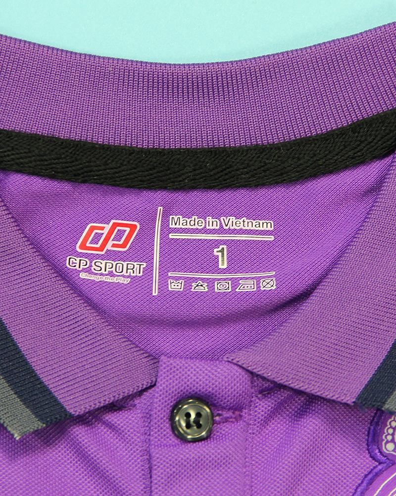 áo polo trẻ em real tím