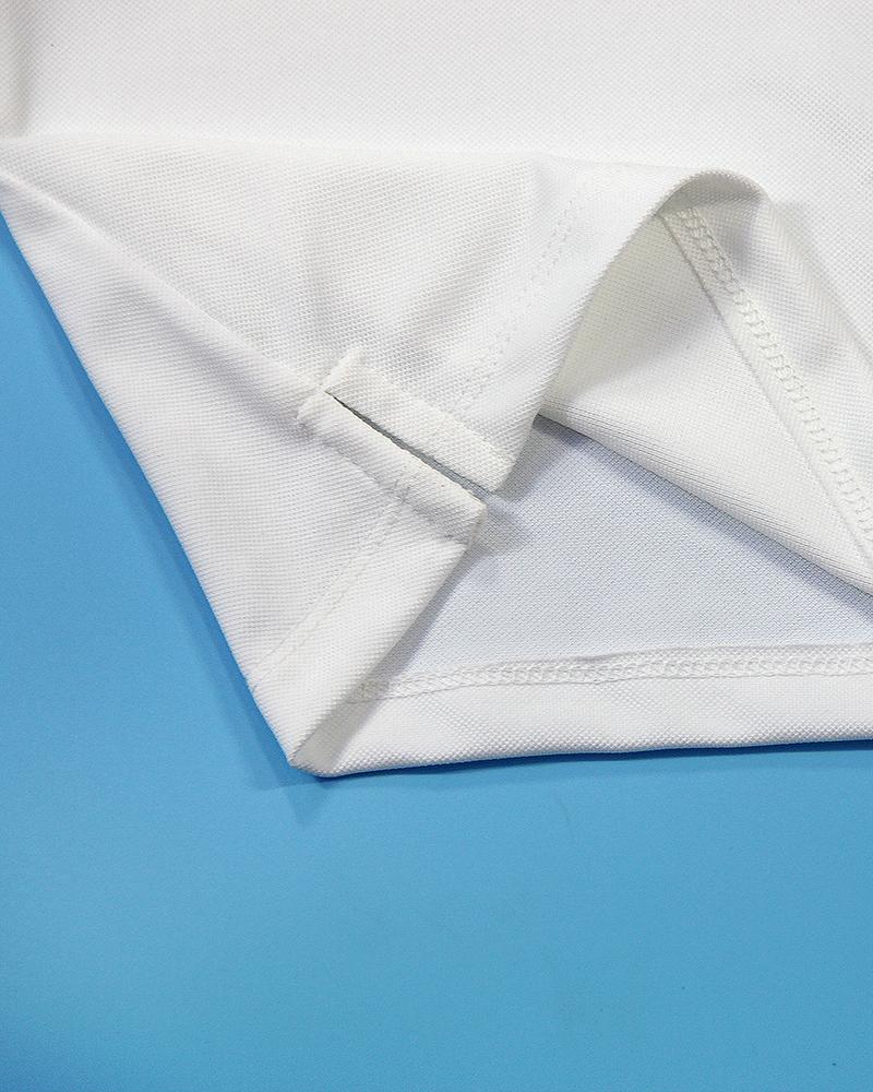 áo polo trẻ em mu trắng