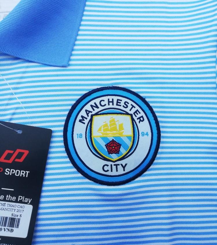 áo thun polo logo clb man city