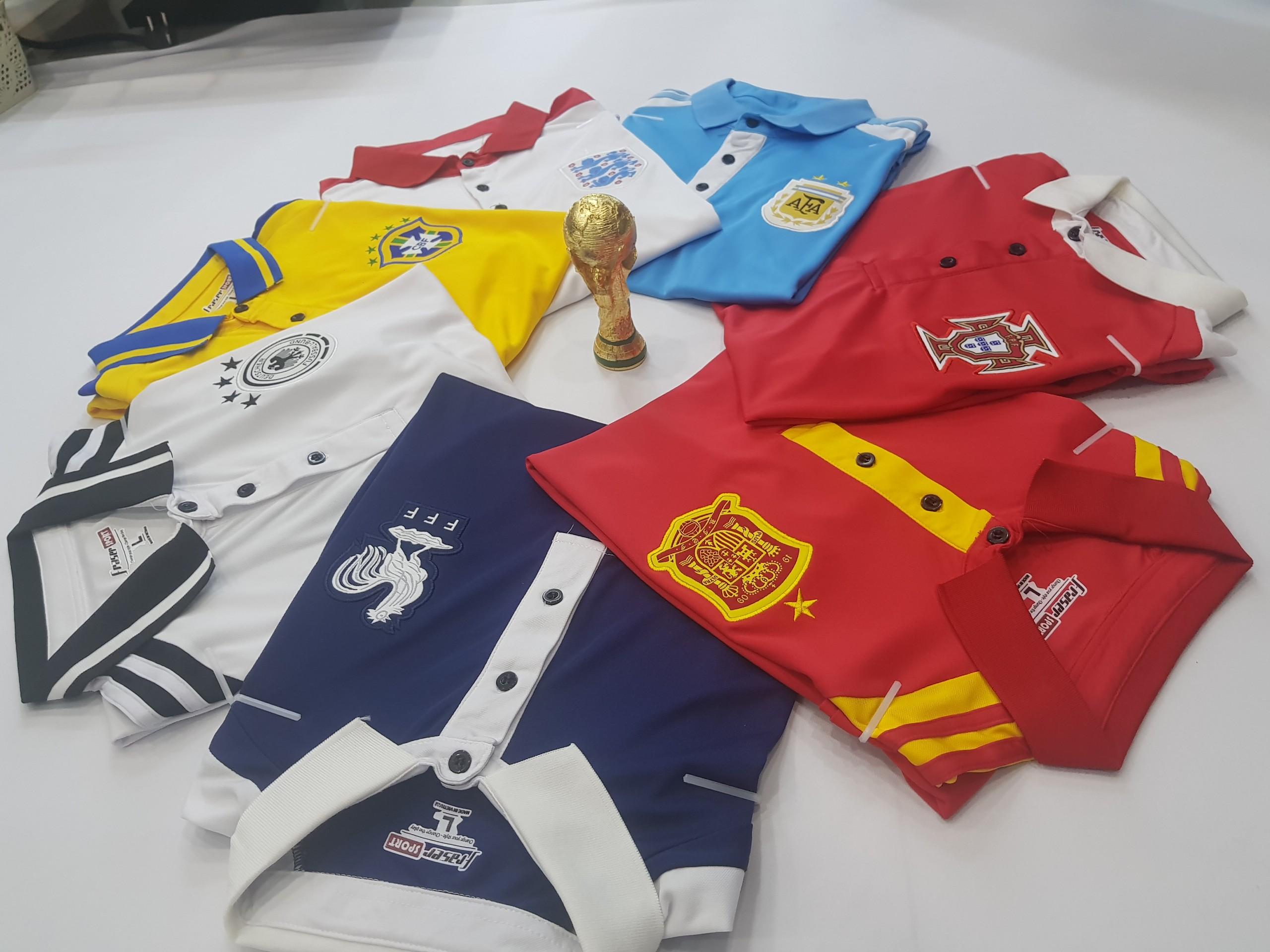 áo thun world cup cổ bẻ
